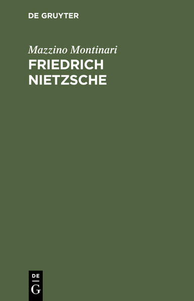 Friedrich Nietzsche als Buch (kartoniert)