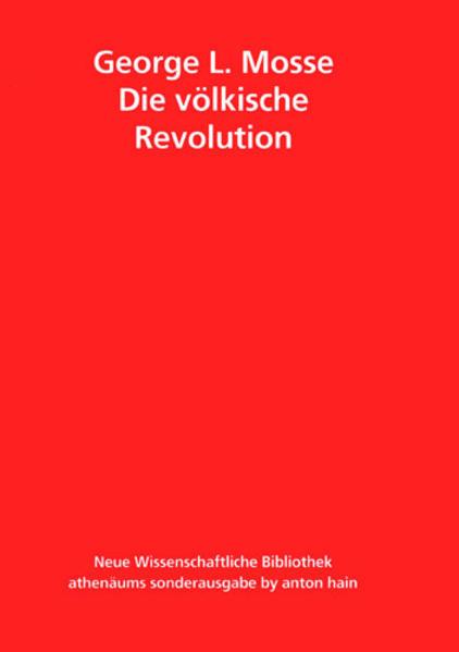 Die völkische Revolution als Buch (kartoniert)