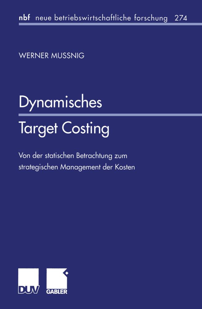 Dynamisches Target Costing als Buch (kartoniert)
