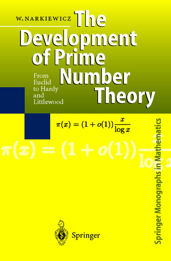 The Development of Prime Number Theory als Buch (gebunden)