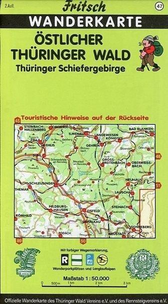 Östlicher Thüringer Wald / Thüringer Schiefergebirge. Fritsch Wanderkarte als Blätter und Karten