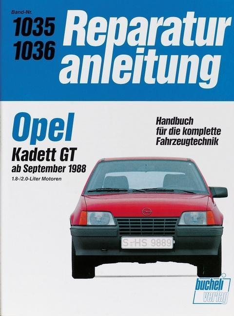 Opel Kadett GT ab September 1988 als Buch (kartoniert)
