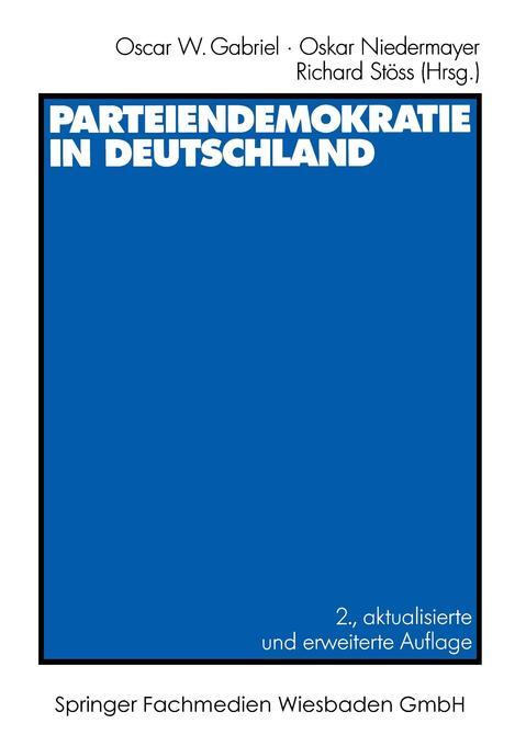 Parteiendemokratie in Deutschland als Buch (kartoniert)