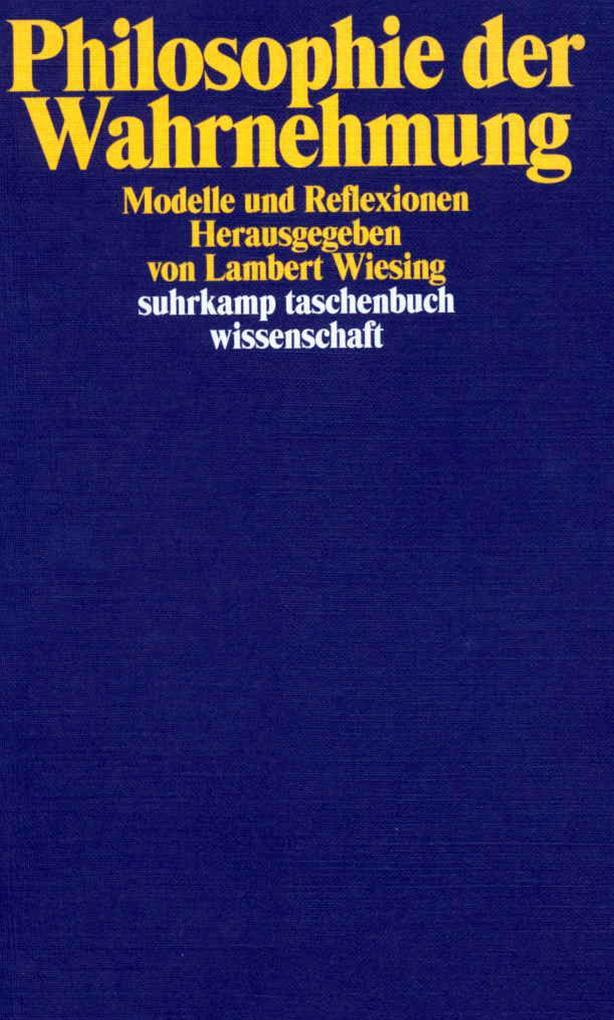 Philosophie der Wahrnehmung als Taschenbuch