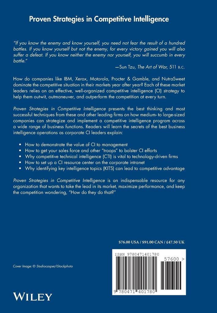 Proven Strategies in Competitive Intelligence als Buch (gebunden)