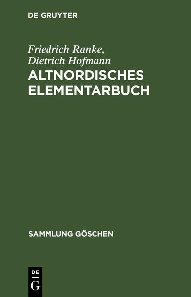 Altnordisches Elementarbuch als Taschenbuch