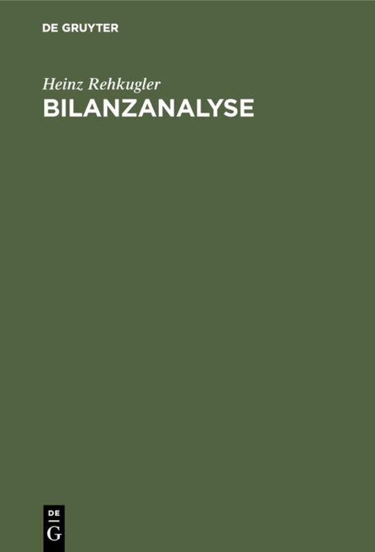 Bilanzanalyse als Buch (gebunden)