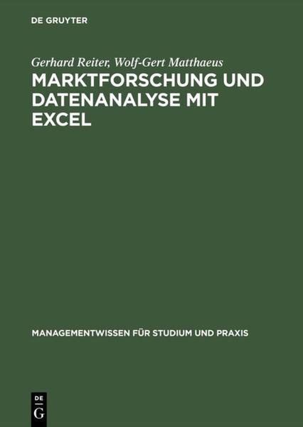 Marktforschung und Datenanalyse mit EXCEL als Buch (gebunden)