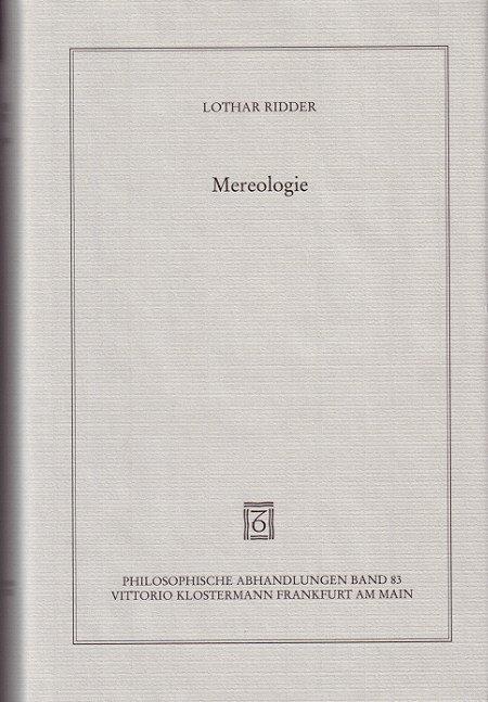 Mereologie als Buch (gebunden)