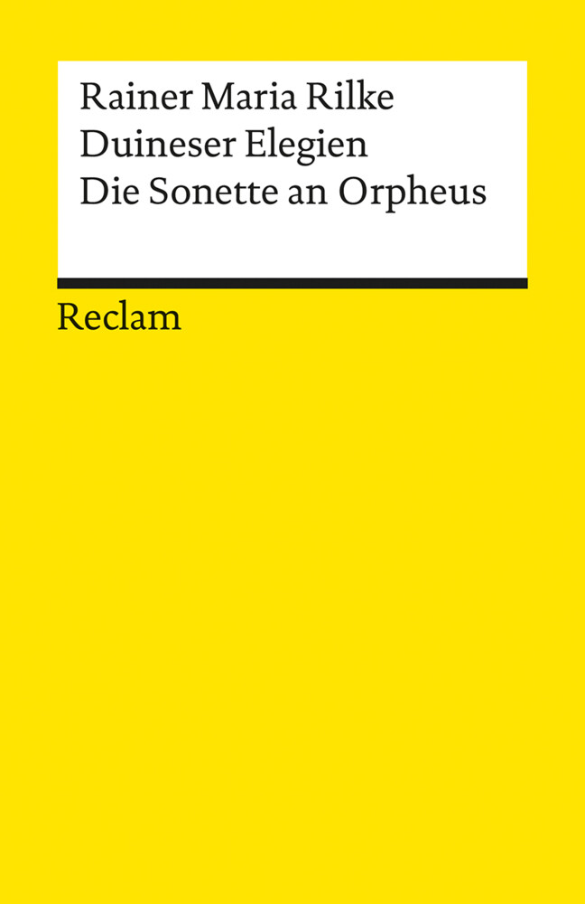 Duineser Elegien. Die Sonette an Orpheus als Buch (kartoniert)