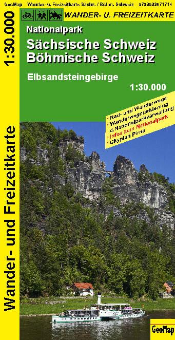 Nationalpark Sächsische Schweiz, Böhmische Schweiz - Wanderkarte 1 : 30 000 als Blätter und Karten
