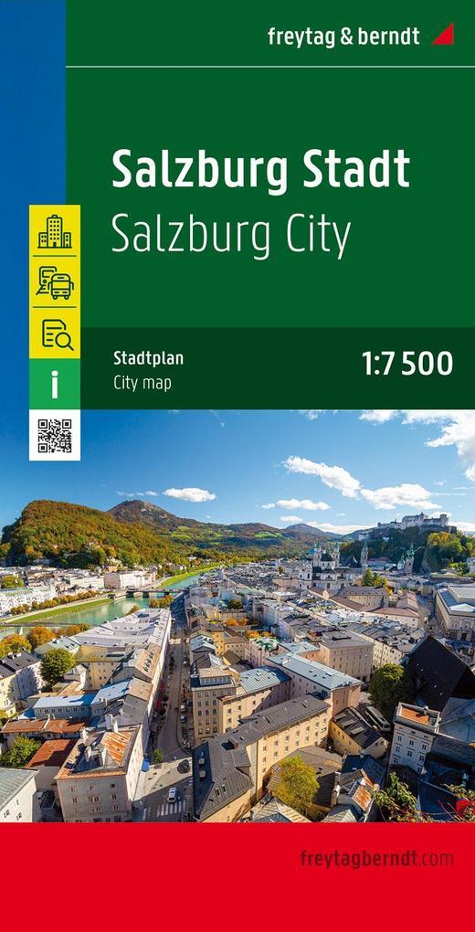 Salzburg Stadt, Stadtplan 1:7.500 - 1:15.000 als Blätter und Karten