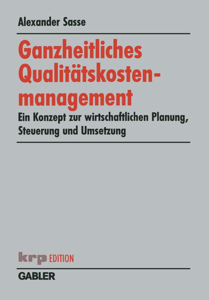 Ganzheitliches Qualitätskostenmanagement als Buch (kartoniert)