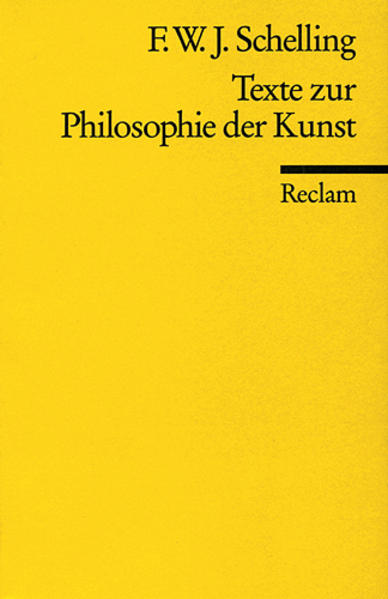 Texte zur Philosophie der Kunst als Taschenbuch