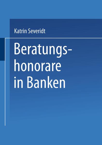Beratungshonorare in Banken als Buch (kartoniert)