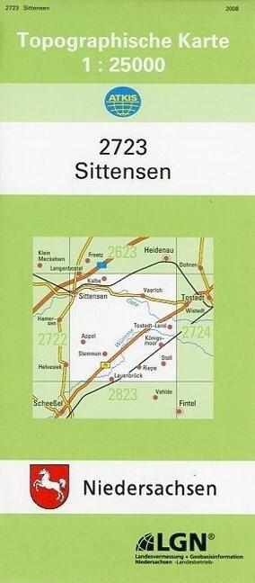 Sittensen 1 : 25 000. (TK 2723/N) als Blätter und Karten
