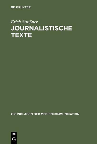 Journalistische Texte als Buch (gebunden)