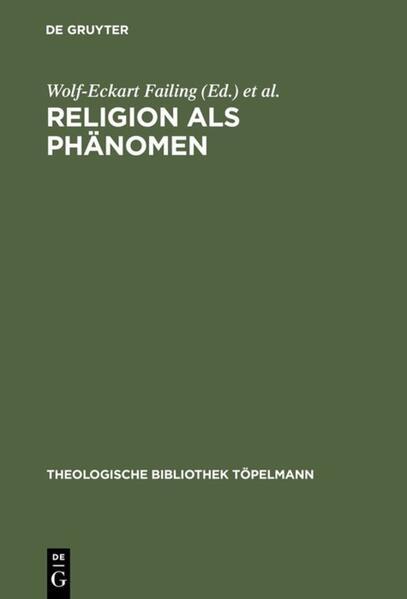 Religion als Phänomen als Buch (gebunden)
