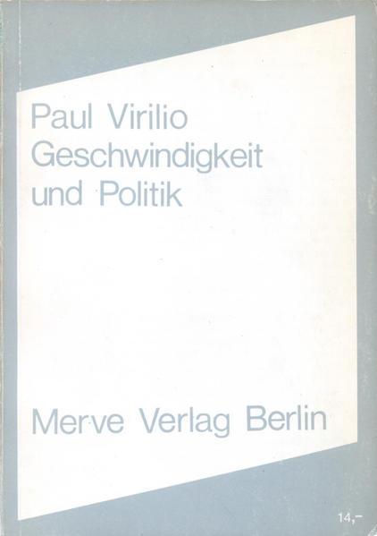 Geschwindigkeit und Politik als Buch (kartoniert)