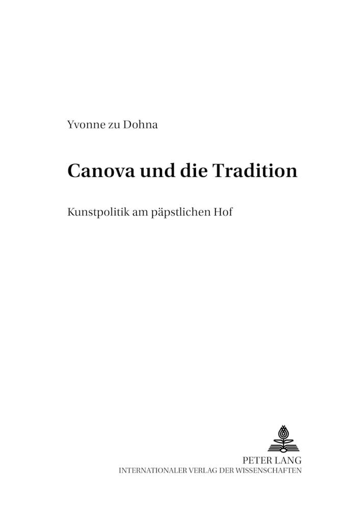 Canova und die Tradition als Buch