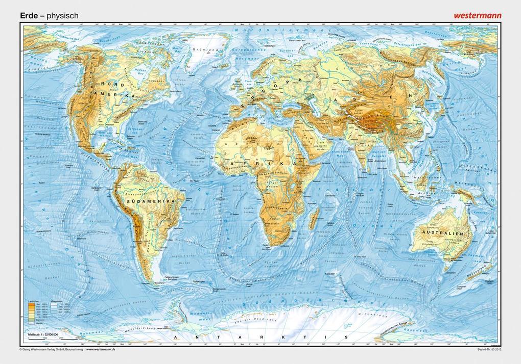 Posterkarten Geographie: Erde: physisch als Sonstiger Artikel