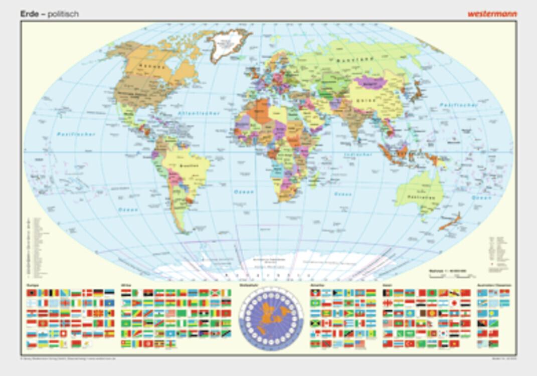 Posterkarten Geographie: Erde: politisch als Sonstiger Artikel