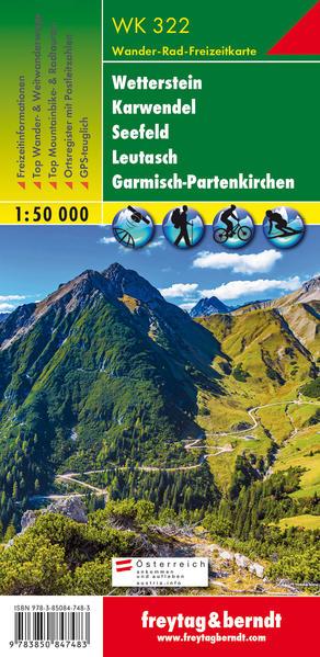 Wetterstein, Karwendel, Seefeld, Leutasch, Garmisch Partenkirchen 1 : 50 000 als Blätter und Karten