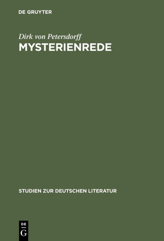 Mysterienrede als Buch