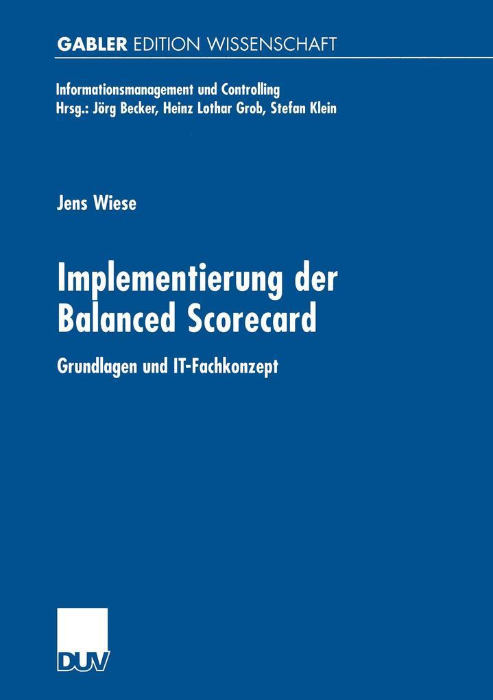 Implementierung der Balanced Scorecard als Buch (kartoniert)
