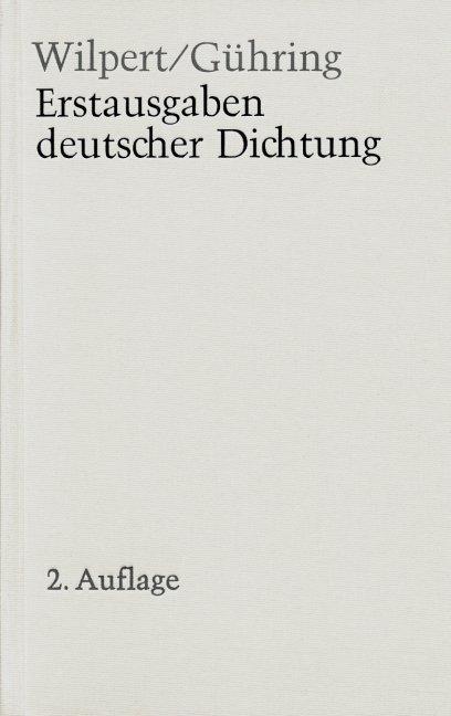 Erstausgaben deutscher Dichtung als Buch (gebunden)