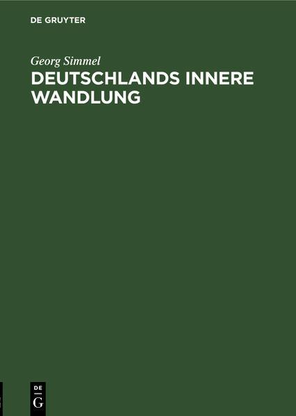 Deutschlands innere Wandlung als Buch (gebunden)