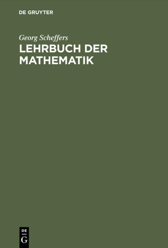 Lehrbuch der Mathematik als Buch (gebunden)