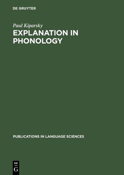 Explanation in Phonology als Buch (gebunden)