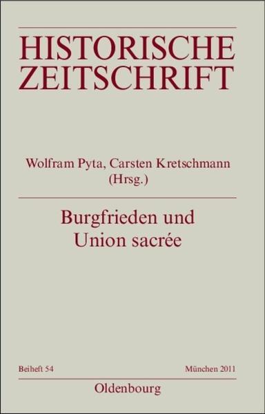 Burgfrieden und Union sacrée als Buch (kartoniert)