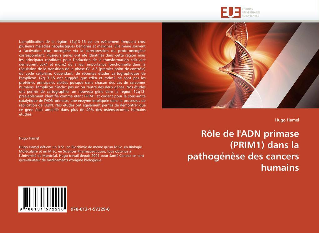 Rôle de l''adn Primase (Prim1) Dans La Pathogénèse Des Cancers Humains als Taschenbuch