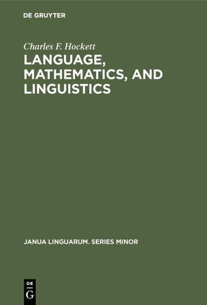 Language, mathematics, and linguistics als Buch (gebunden)