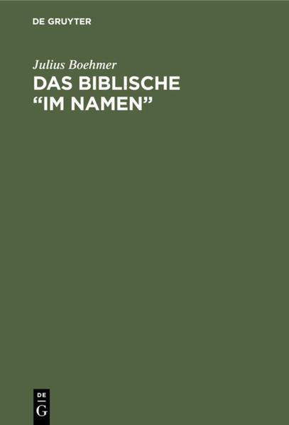 """Das Biblische """"im Namen"""" als Buch (gebunden)"""