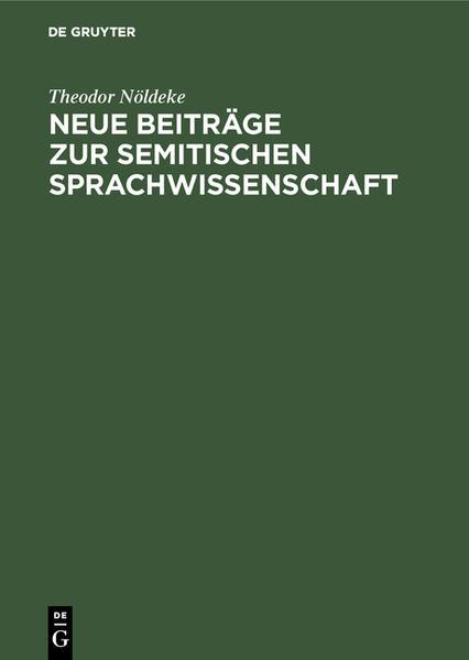 Neue Beiträge zur semitischen Sprachwissenschaft als Buch (gebunden)