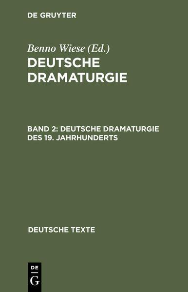Deutsche Dramaturgie des 19. Jahrhunderts als Buch