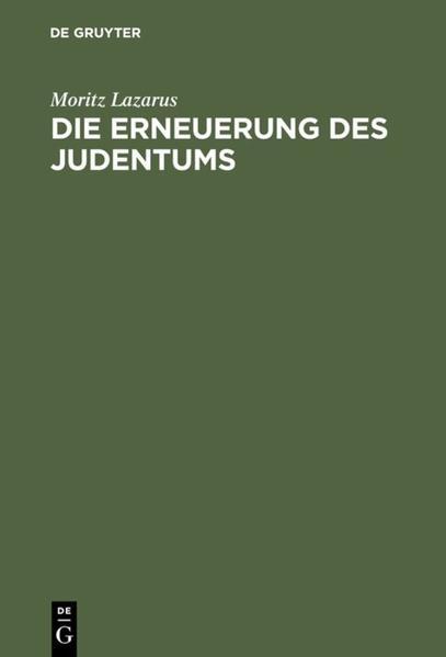 Die Erneuerung des Judentums als Buch (gebunden)