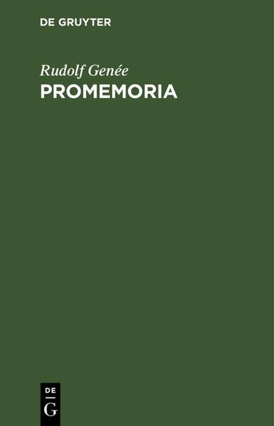 Promemoria als Buch (gebunden)