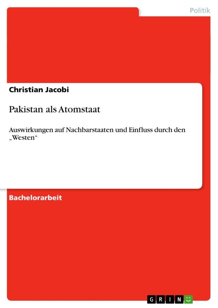 Pakistan als Atomstaat als Buch (kartoniert)