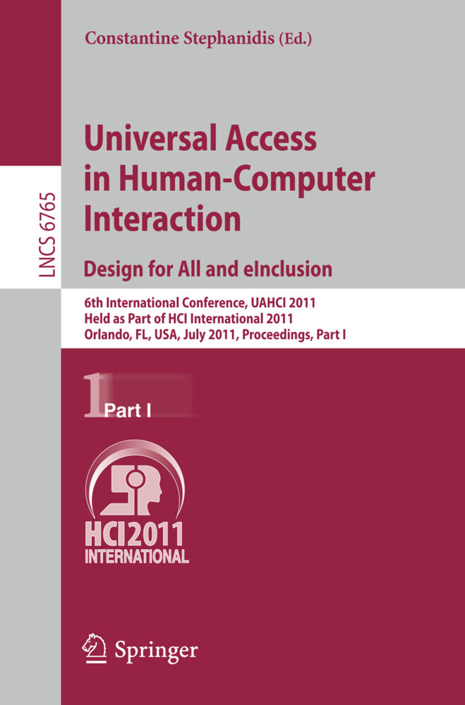 Universal Access in Human-Computer Interaction. Design for All and eInclusion als Buch (kartoniert)