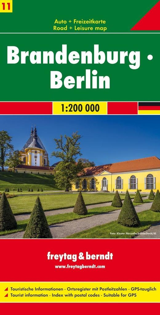 Brandenburg - Berlin, Autokarte 1:200.000 als Blätter und Karten