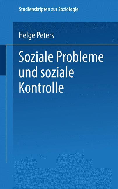 Soziale Probleme und soziale Kontrolle als Buch (kartoniert)