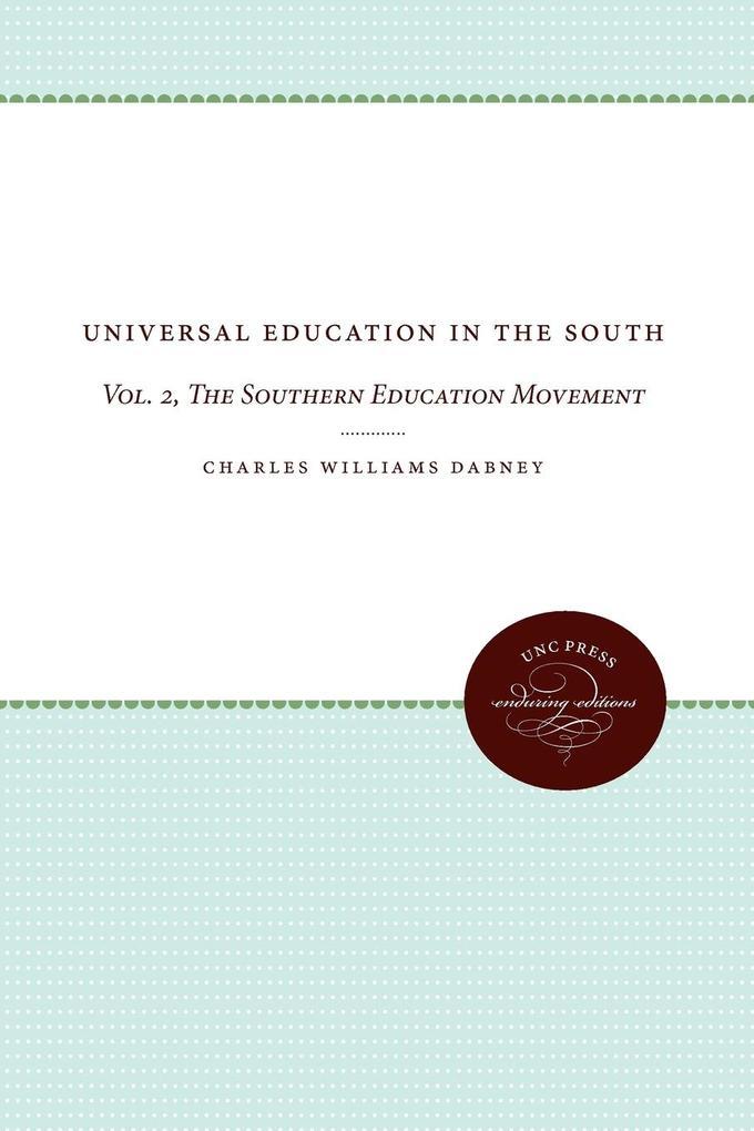 Universal Education in the South als Taschenbuch