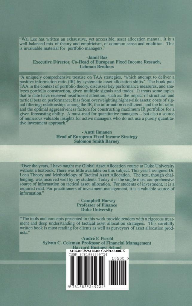 Theory Method Tact Asset Allocation als Buch (gebunden)