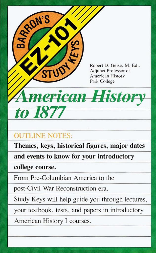 American History to 1877 als Taschenbuch
