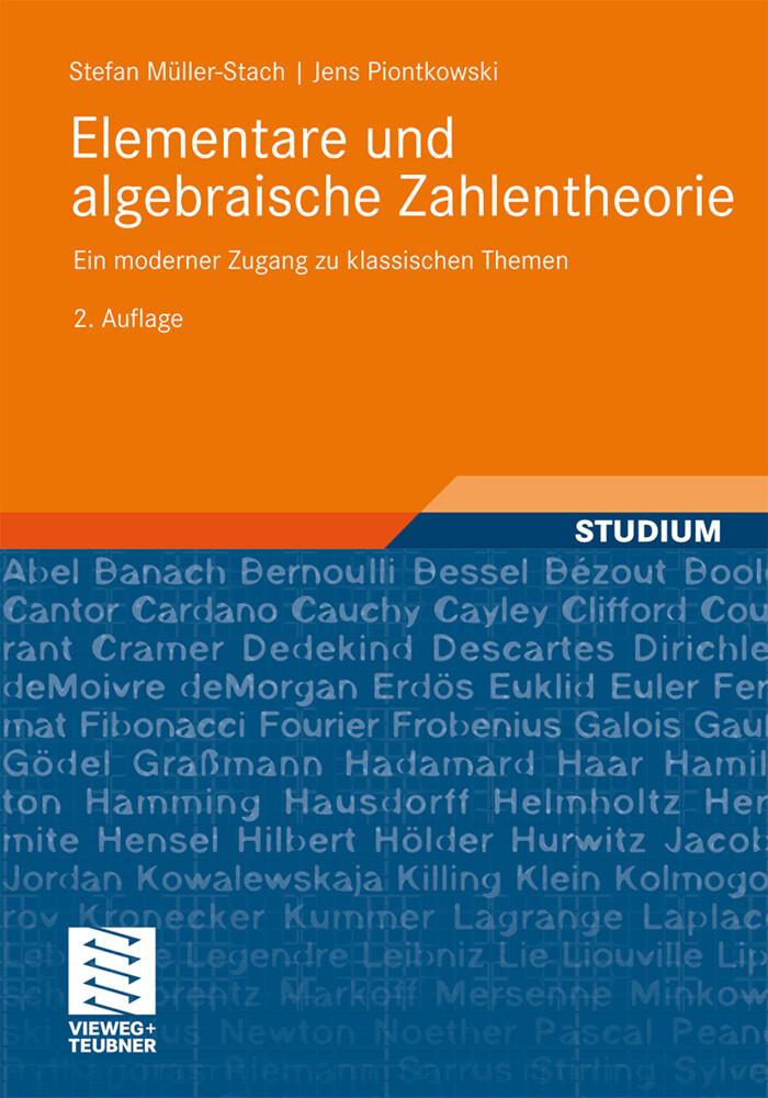 Elementare und algebraische Zahlentheorie als Buch (kartoniert)