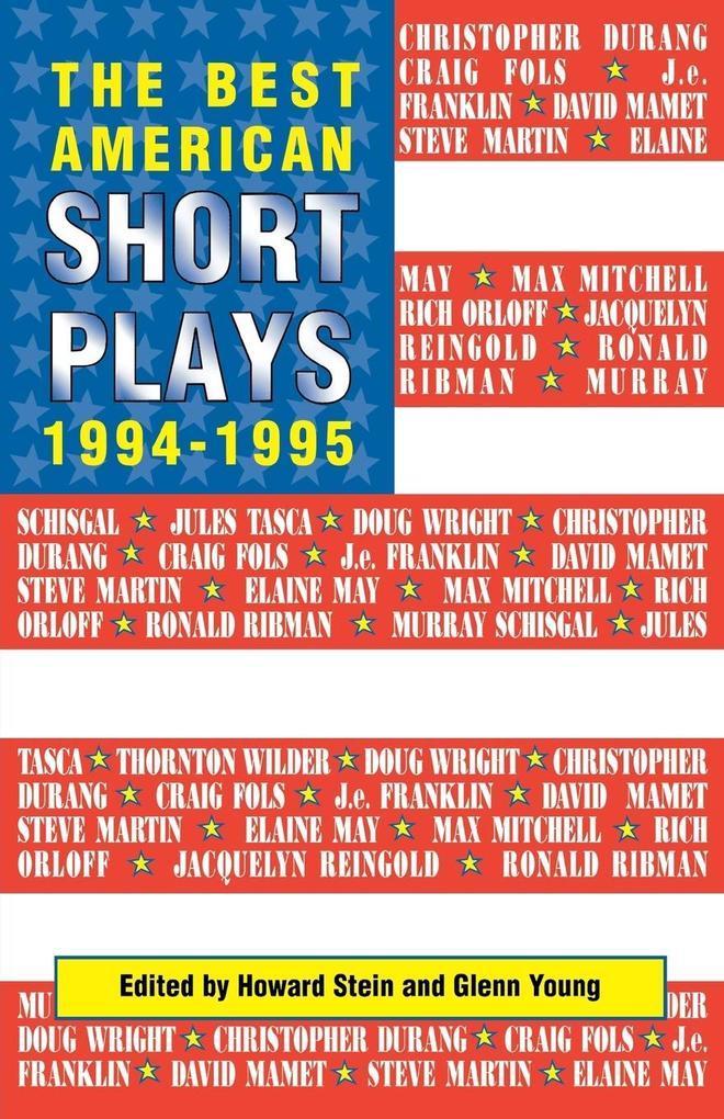 The Best American Short Plays 1994-1995 als Taschenbuch